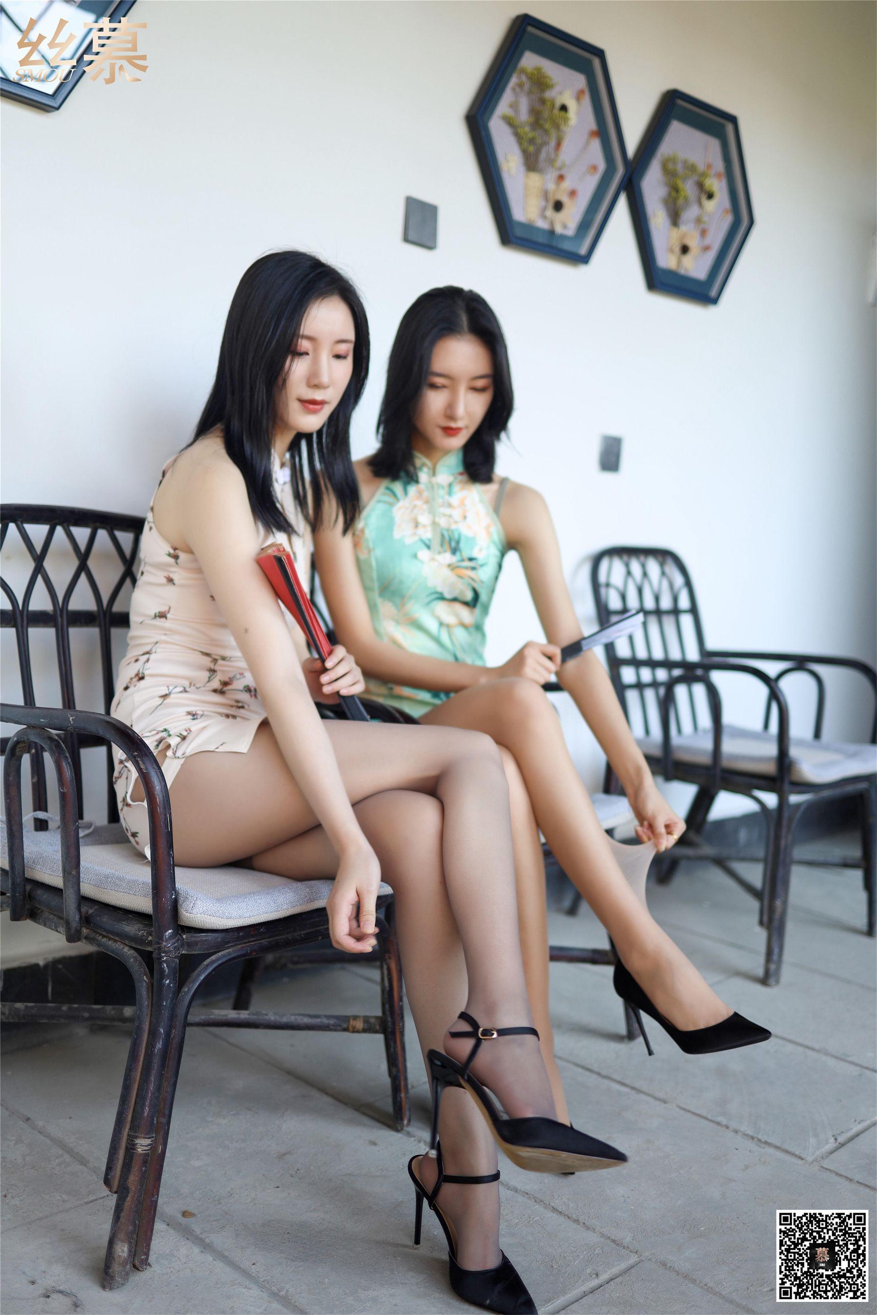[丝慕]茗茗&紫宁SM291超高清写真大图片(64P)|354热度